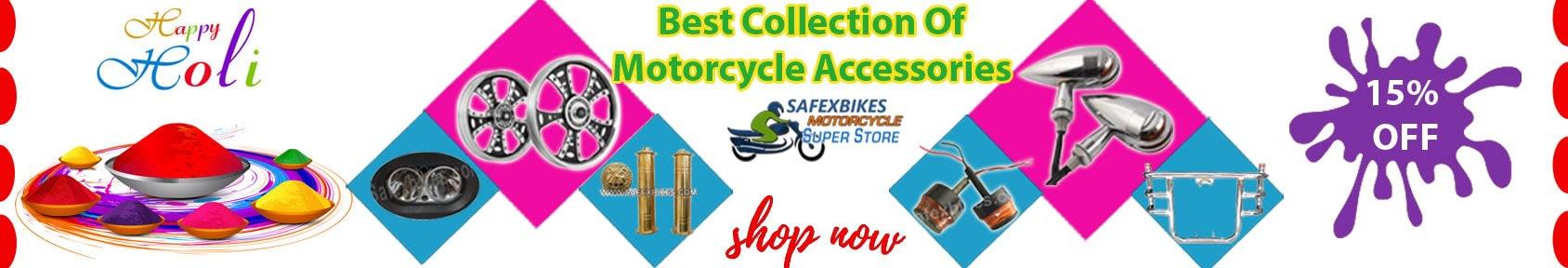 Special offers on Genuine Motorcycle Spare Parts And  		   Accessories - holi offer get 15 percent off