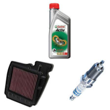 Buy BIKE ENGINE OIL 4T CASTROL WITH AIR FILTER AND SPARK PLUG PULSAR ZADON on 0 % discount