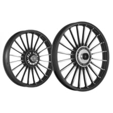 Buy ALLOY WHEEL SET FOR RE CLASSIC 20SPOKES BLACK WITH CNC HARLEY TYPE KINGWAY on 22.50 % discount