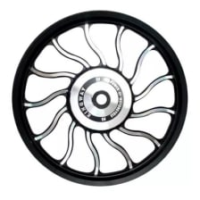 Buy ALLOY WHEEL SET FOR RE ELECTRA WAVEDESIGN IN BLACK SPOKES 13 SPOKES HARLEY TYPE KINGWAY on 10.00 % discount