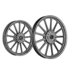 Buy ALLOY WHEEL SET FOR RE CLASSIC 30SPOKES COMPLETE BLACK HARLEY TYPE KINGWAY on  % discount