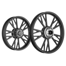 Buy ALLOY WHEEL SET FOR RE CLASSIC YMODEL COMPLETE BLACK KINGWAY on 10.00 % discount