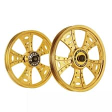 Buy ALLOY WHEEL SET FOR RE STANDARD FATBOY HARLEY GOLD CHROME KINGWAY on 12.00 % discount