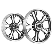 Buy ALLOY WHEEL SET FOR RE STANDARD HARLEY YMODEL RIM BLACK CNC SPOKES FULL CNC KINGWAY on 19.50 % discount