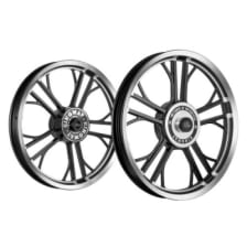 Buy ALLOY WHEEL SET FOR RE STANDARD HARLEY YMODEL RIM BLACK SPOKES BLACK KINGWAY on 10.00 % discount