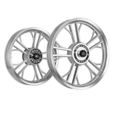 Buy ALLOY WHEEL SET FOR RE STANDARD HARLEY YMODEL RIM SILVER CNC SPOKES CNC KINGWAY on 10.00 % discount