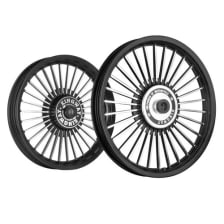 Buy ALLOY WHEEL SET FOR RE CLASSIC 30SPOKES CNC WITH BLACK RIM HARLEY TYPE KINGWAY on 17.00 % discount