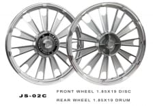 Buy ALLOY WHEEL SILVER ROYAL ENFIELD KINGWAY on 0 % discount