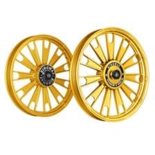 Buy ALLOY WHEEL SET FOR RE STANDARD GOLD CHROME ZIPP HARLEY KINGWAY on 10.00 % discount