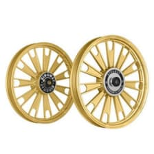 Buy ALLOY WHEEL SET FOR RE STANDARD COMPLETE GOLDEN ZIPP HARLEY KINGWAY on 10.00 % discount