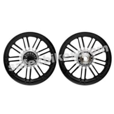Buy ALLOY WHEEL SET FOR RE CLASSIC BLACK 18SPOKES HARLEY KINGWAY on 0.00 % discount