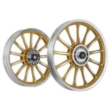 Buy ALLOY WHEEL SET FOR RE STANDARD GOLD 13SPOKES HARLEY CNC KINGWAY on 15.00 % discount