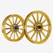 Buy ALLOY WHEEL SET FOR RE STANDARD GOLD CHROME 13SPOKES HARLEY KINGWAY on 20.50 % discount