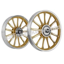Buy ALLOY WHEEL SET FOR RE CLASSIC 30SPOKES CNC WITH BLACK RIM HARLEY TYPE KINGWAY on 15.00 % discount
