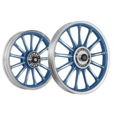 Buy ALLOY WHEEL SET FOR RE CLASSIC FROST BLUE 13SPOKES HARLEY KINGWAY on  % discount