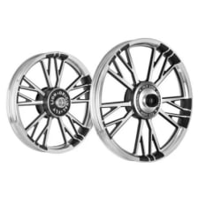Buy ALLOY WHEEL SET FOR RE CLASSIC Y DESIGN BLACK WITH CNC KINGWAY on  % discount