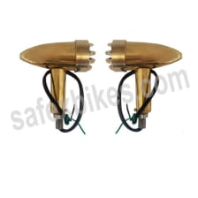 Buy BRASS INDICATOR ASSY SMALL WITH LED SET OF 4 FOR ROYAL ENFIELD BULLET ZADON on 15.00 % discount