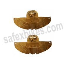 Buy BRASS PETROL TANK PAD STAR TYPE FOR ROYAL ENFIELD BULLET ZADON on 15.00 % discount