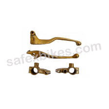 Buy BRASS INDICATOR ASSY BIG WITH LED SET OF 4  FOR ROYAL ENFIELD BULLET ZADON on 14.00 % discount