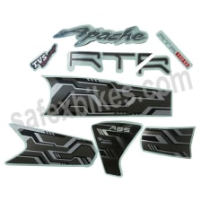 Buy COMPLETE STICKER KIT APACHE RTR 180 ABS ZADON on 10.00 % discount