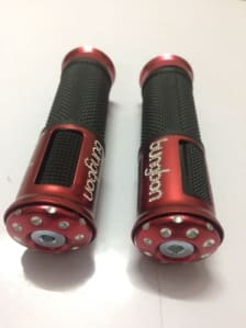 Buy FANCY HANDLE GRIP SET FOR MOTORCYCLE D1 (BLACK/RED) ZOOM on 13.00 % discount