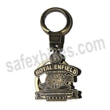 Buy EXCLUSIVE METAL KEY CHAIN ROYAL ENFIELD MADE  A GUN(COPPER FINISH) ZADON on 10.00 % discount