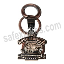 Buy EXCLUSIVE METAL KEY CHAIN ROYAL ENFIELD MADE  A GUN(BRASS FINISH) ZADON on 25.00 % discount