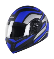 Buy FLIP OFF HELMET SB-41 OSCAR HALO MAT BLACK WITH LIGHT BLUE (600MM) STEELBIRD on  % discount