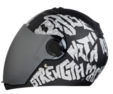 Buy FULL FACE HELMET  SBA-2 STRENGTH MATT BLACK WITH WHITE  STEELBIRD AIR on 0 % discount