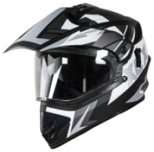 Buy FULL FACE HELMET SB-42 XCX GLOSSY BLACK WITH  WHITE STEELBIRD on 10.00 % discount