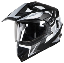 Buy FULL FACE HELMET SB-42 XCX GLOSSY BLACK WITH  WHITE (600MM) STEELBIRD on 0 % discount