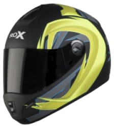 Buy FULL FACE HELMET SB-39 ROX FLASH MAT BLACK WITH NEON YELLOW STEELBIRD on 10.00 % discount