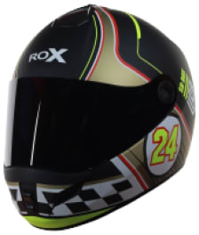 Buy FULL FACE HELMET SB-39 ROX FURY MAT BLACK WITH YELLOW GOLD STEELBIRD on 10.00 % discount