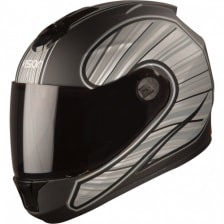 Buy FULL FACE HELMET  SBH-11 VISION RAYS BLACK WITH GREY  HIGN on  % discount