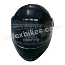 Buy HELMET SB-18 STEELBIRD FULL FACE TECHNIK BLACK CLASSIC FRESH on 0 % discount