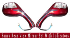 Buy FANCY REAR VIEW MIRROR SET WITH INDICATORS on  % discount
