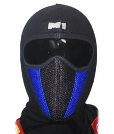 Buy FACE MASK FOR RIDERS (BLACK-BLUE) ZADON on 19.00 % discount