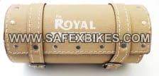 Buy TOOL BAG LEATHER SMALL LIGHT BROWN FOR ROYAL ENFIELD BULLET ZADON on 13.00 % discount