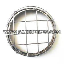 Buy HEAD LIGHT JALI / GRILL CHROME PLATED FOR ROYAL ENFIELD BULLET D2 ZADON on 13.00 % discount