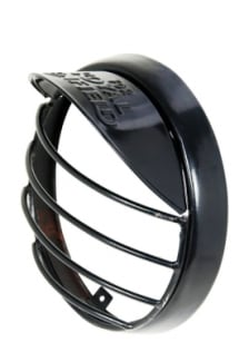 Buy ZADON HEAD LIGHT GRILL BLACK WITH CAP FOR ROYAL ENFIELD BULLET on 13.00 % discount