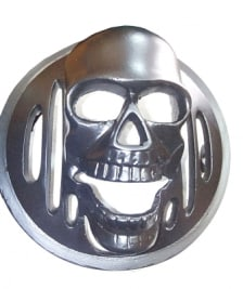 Buy HEAD LIGHT GRILL CHROME SKULL TYPE FOR ROYAL ENFIELD BULLET ZADON on 13.00 % discount