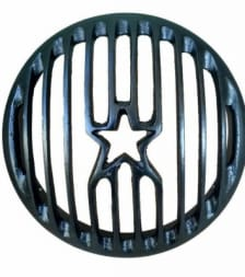 Buy HEAD LIGHT GRILL BLACK STAR TYPE FOR ROYAL ENFIELD BULLET ZADON on 13.00 % discount