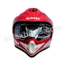 Buy GLIDERS FULL FACE MOTOCROSS HELMET WITH VISOR MC1 CHERRY RED on 11.00 % discount