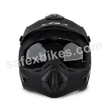 Buy Vega Helmet - Off Road MOTOCROSS FULL FACE (Dull Black) on 0 % discount