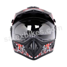 Buy Vega motocross full face Helmet - Off Road Shocker (Black Base with Red Graphics) on 0 % discount