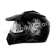 Buy Vega motocross full face Helmet - Off Road D/V Ranger (Dull Black Base With Silver Graphic) on 10.00 % discount