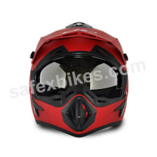 Buy Vega motocross full face Helmet - Off Road (Dull Red) on 10.00 % discount