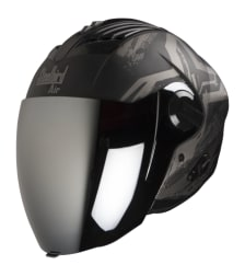 Buy OPEN FACE HELMET SBA-3 EXCEL MAT BLACK WITH GREY (600MM) STEELBIRD AIR on  % discount