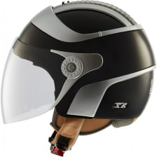 Buy STEELBIRD-OPEN FACE HELMET SB-29 TWO TONE MATTE BLACK WITH SILVER (60 CM) on 0.00 % discount