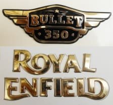Buy PETROL TANK AND SIDE PANEL MONOGRAM (GOLDEN) FOR ROYAL ENFIELD ZADON on 15.00 % discount